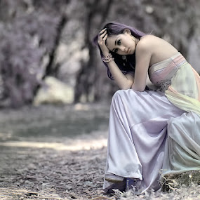 No Hope by Chandra Sugiharto - People Portraits of Women (  false color,  model, women )