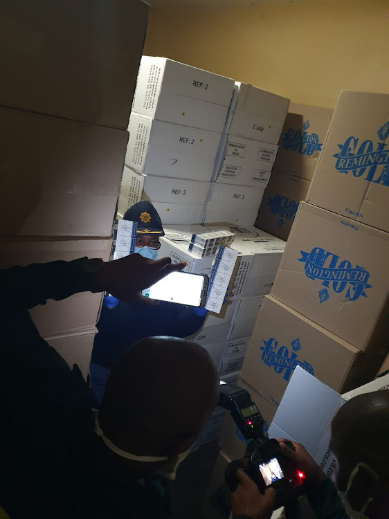 Cartons of cigarettes worth R3m were seized during a raid in KwaZulu-Natal on Sunday.