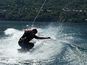 wakeboard en rase motte