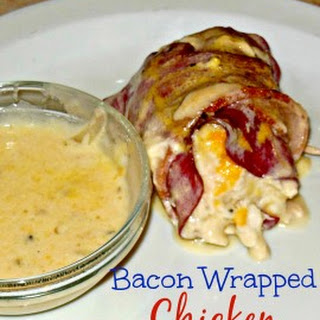 Rhonda's Saucy Beef & Bacon Wrapped Chicken