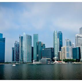 Singapore Skyline by Joydeep Sen Chaudhuri - City,  Street & Park  Skylines ( skyline, singapore, buidlings )