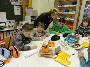 Photo: Uit ieder leerjaar zijn 2 leerlingen gekozen voor het MOS-team.
