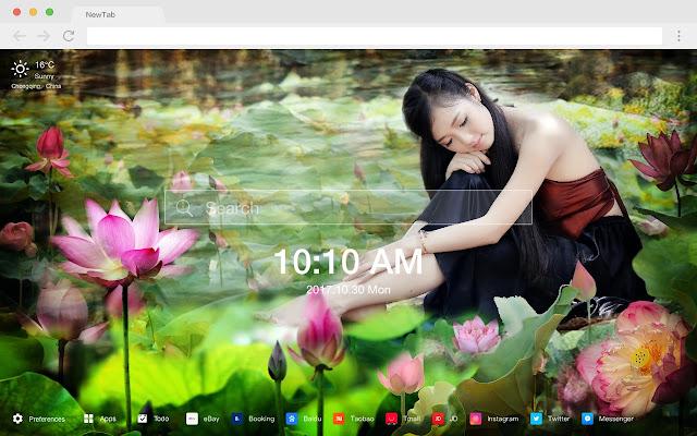 Lotus New Tab Hd Wallpapers Themes
