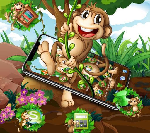 Kawaii Cute Brown Cartoon Monkey Theme 1.1.3 screenshots 2
