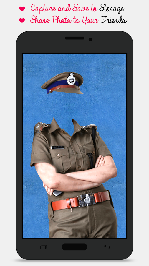 Police Suit Photo Maker-Woman- screenshot