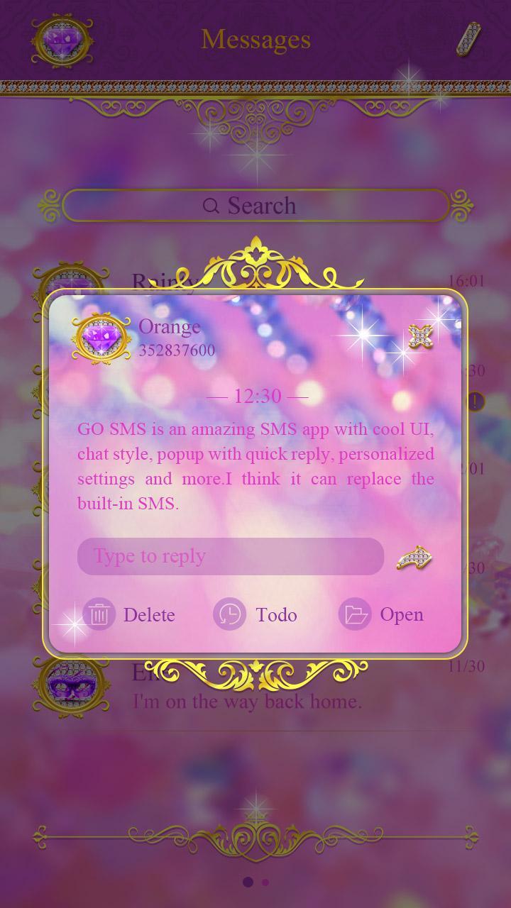 Скриншот GO SMS KING THEME