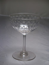 Photo: Victorian champagne saucer, Dates from around 1900, it has been hand blown, with a polished pontil mark to the base