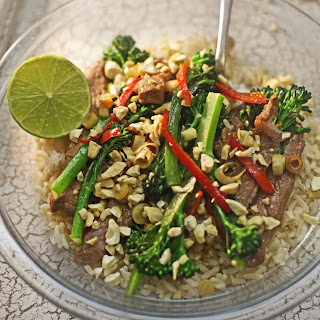 Thai Style Spicy Beef With Tenderstem & Brown Rice.