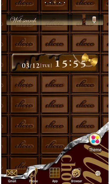 CHOCOLATE BAR Wallpaper Theme Android App Screenshot