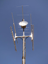 Photo: K8GP / Rover 6L 144 and Microwave antenna array