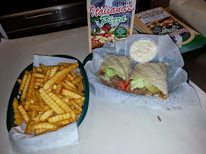 Photo: wraps and fries