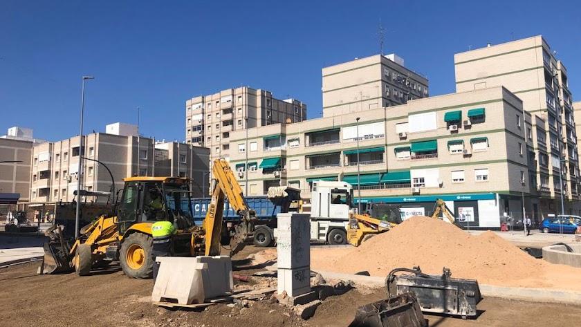 Obras que están en marcha en la calle Santiago