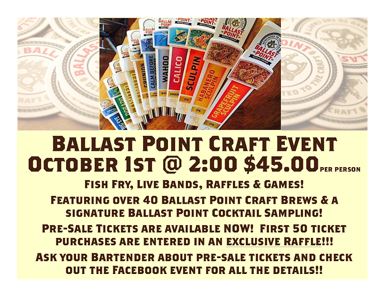 Logo for Ballast Point Beer Fest! @ The Lincoln Fill Station