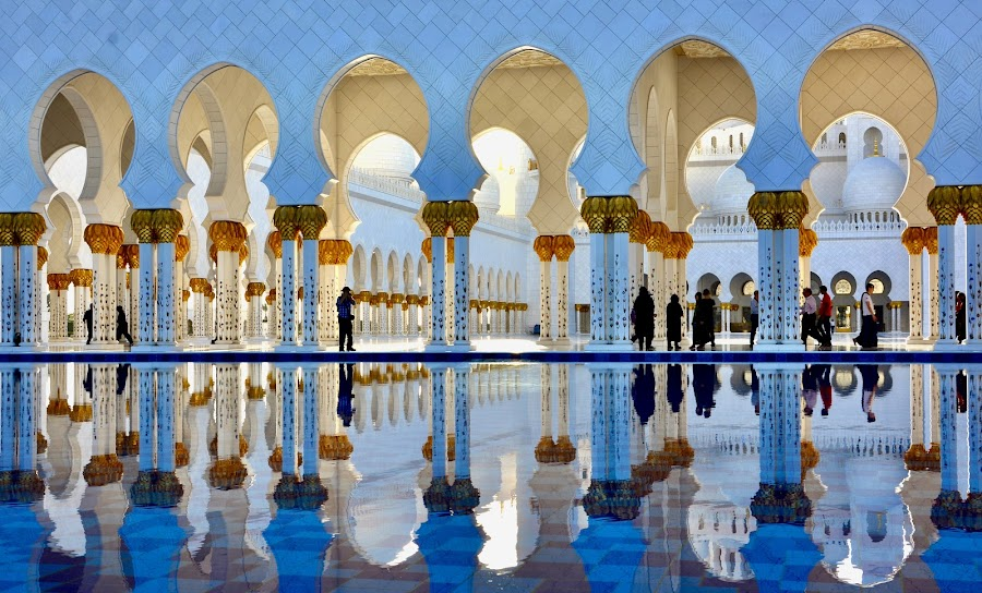 Sheikh Zayed Mosque, Abu Dhabi, UAE by Nadeem M Siddiqui - Buildings & Architecture Places of Worship