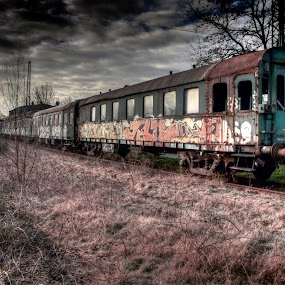 Historical by Dietmar Pohlmann - Transportation Trains ( hdri, dark, train, technical )