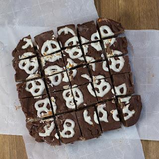 5 Minute White Chocolate Covered Pretzel Fudge