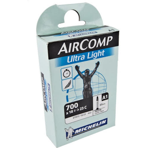 Michelin AirComp Ultra Light Tube, 700x18-23mm 60mm Presta Valve