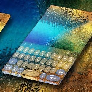 HD Glass Keyboard Theme - náhled
