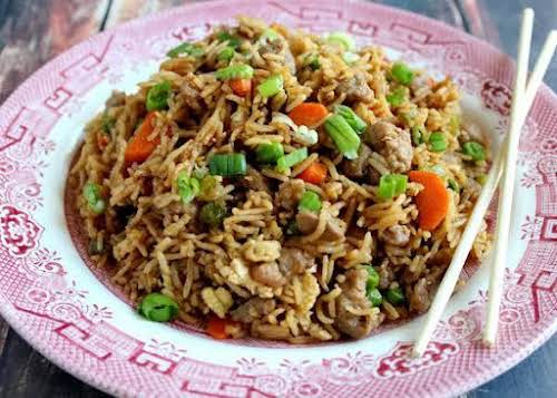 "Slammin Pork Fried Rice""I've been making fried rice since I was a..."