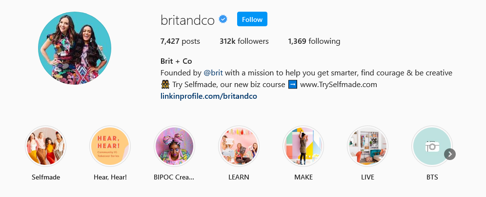 instagram brands brit and co