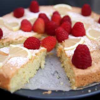 Summertime Raspberry Lemon Almond Cake [Gluten Free].