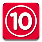 Red 10 icon
