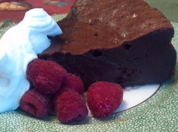 Bama's Chocolate Raspberry Fallen Souffle Recipe