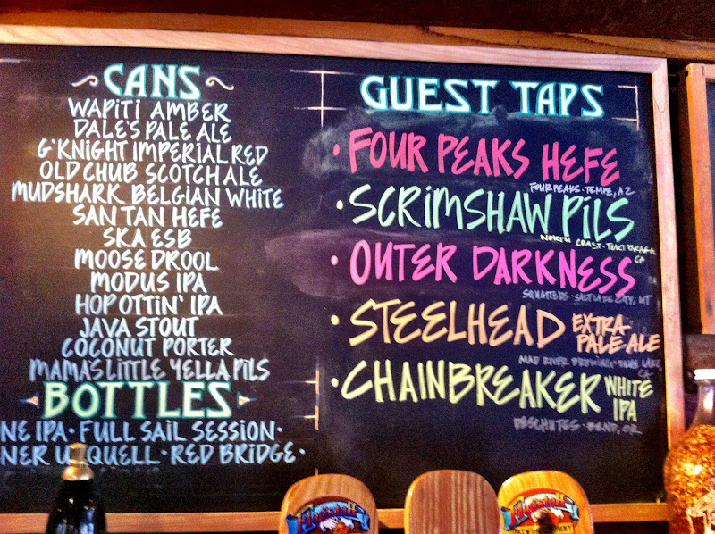 Photo: The tap list.
