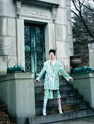 Fashion editorial featuring looks from Thom Browne.