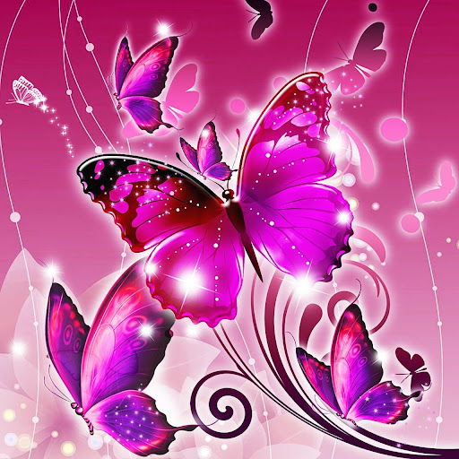 Download Butterfly Wallpapers Love | Glitter | Pink | Neon ...