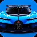 Blue concept car. LW of legend icon