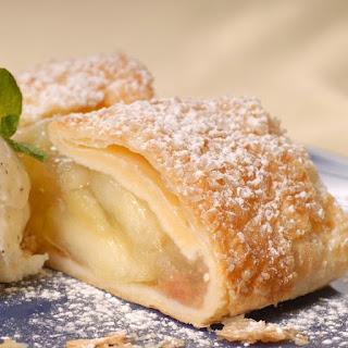 Phyllo Dough Apple Strudel Dessert.