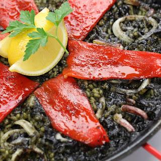 Squid Ink Paella (Arròs Negre/Arroz Negro).