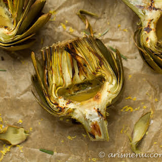 Lemon Rosemary Grilled Artichokes.