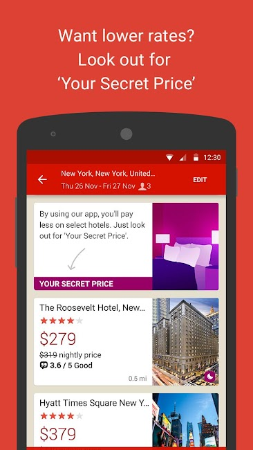 #2. Hotels.com – Hotel Reservation (Android)