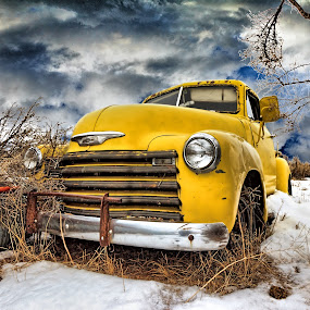 cold yellow chevy by Kirk Kimble - Transportation Other