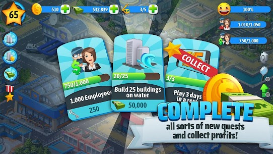 City Island 5 – Tycoon Building Simulation Offline Mod 1.11.3 Apk [Unlimited Money] 6