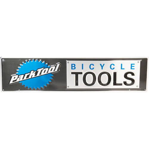 Park Tool Metal Bicycle Tools Sign, Black/Blue/Silver