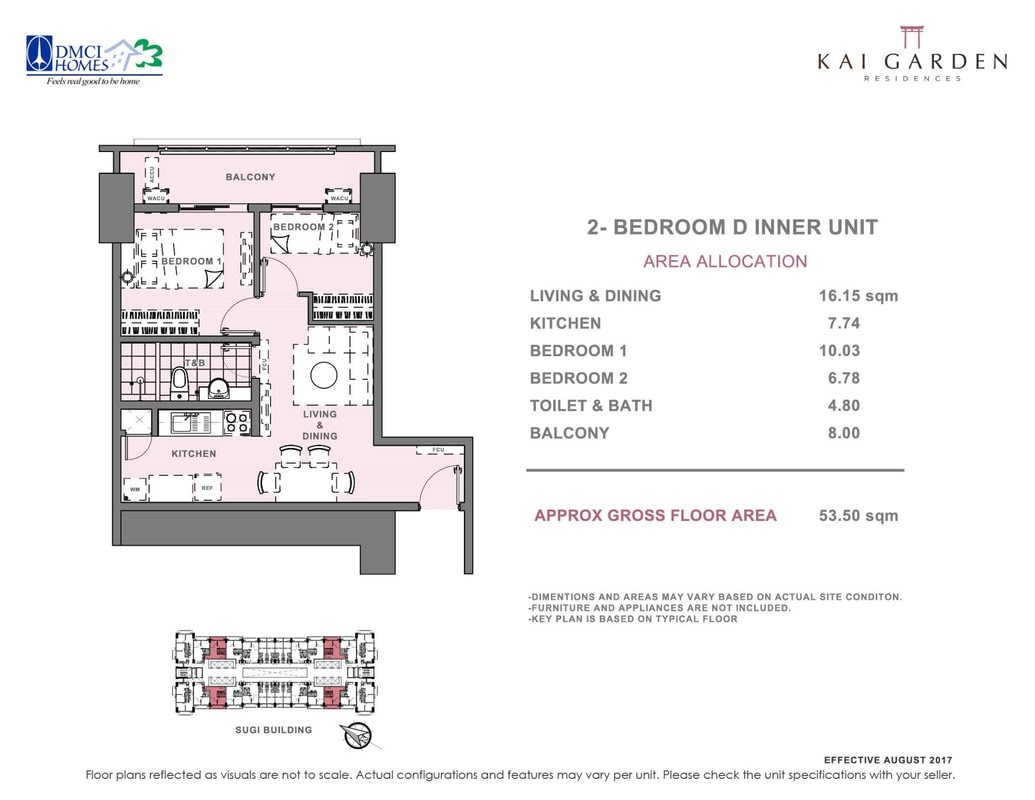Kai Garden Residences, Mandauyong 2 bedroom resale unit