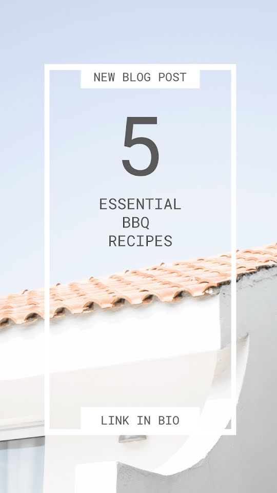 Essential BBQ Recipes - Facebook Story Template