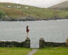Photo: Mieko on Dursey Island