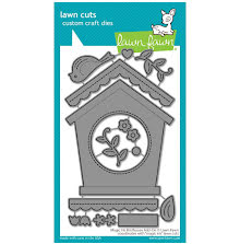 Lawn Fawn Dies - Magic Iris Birdhouse Add-On