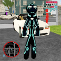 Neon Iron Stickman Rope Hero City Gangstar Mafia icon