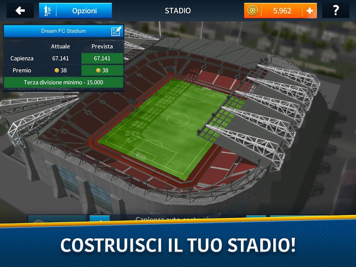 Dream league soccer 2018 app android su google play for Costruisci il tuo garage online