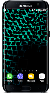 Neon Parallax Squares Particles 3D Live Wallpaper Screenshot