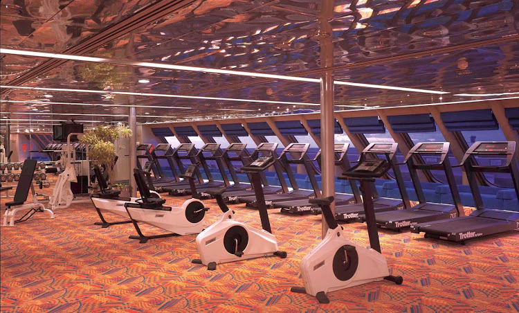 Work out while taking in spectacular sea views on a Holland America cruise.