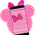 Pink Diamond Minny Bowknot Theme icon