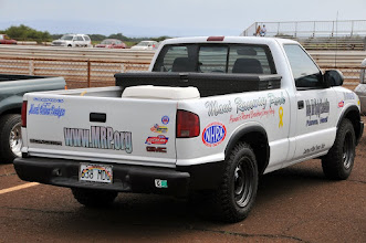 "Photo: Maui Toyota & Scion ""donated"" this nice Jimmy (GMC) pickup, and Mark Caires added the graphics...mahalo nui y'all!"