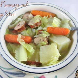 Smoked Sausage, Potatoes, Carrots, and Cabbage Stew