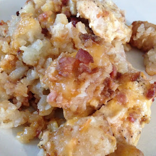 Slow Cooker Chicken Tater Tot Casserole